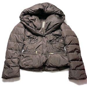 ADD Down Shawl Collar Short Puffer Jacket